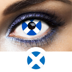 blue and white scotland flag contact lenses
