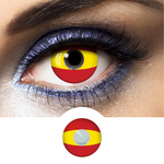 Red and Yellow Contact Lenses Flag Spain - 1 Year