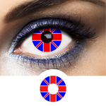Blue, Red and White Color Lenses Flag United Kingdom - 1 Year Use