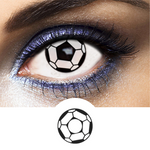 football soccer contact lenses black and white