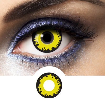 Yellow Contacts Crow - Crazy Lenses of 1 Year Use