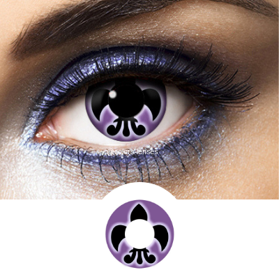 black and violet contact lenses flower lys