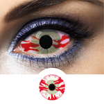 Red and White Sclera Contacts Mesmero - 1 Year