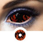 Orange and Black Sclera Contacts Warlock - Crazy Lenses 1 Year
