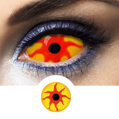 Yellow Contacts Sclera Nemesis - 1 Year