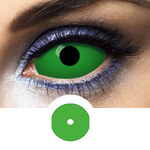 Alien eyes with Green Sclera Lenses