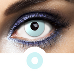light blue contact lenses halloween and make up