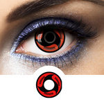 Red and Black Crazy Lenses Sharingan SH-F7 - 1 Year Use from Naruto manga