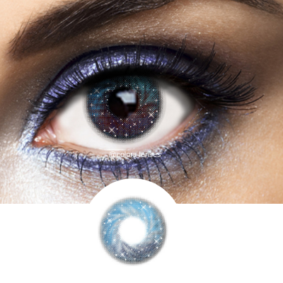 Blue Contacts Galaxy Blue - 1 Year Use