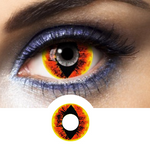 Orange and Black Contacts Mini Sclera Anaconda - 1 Year