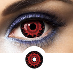 Red Contact Lenses Mini Sclera Halloween - 1 Year
