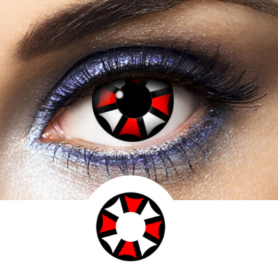 White, Red and Black Contacts Umbrella Corporation - Crazy Lenses of 1 Year Use