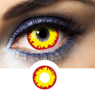 Yellow and Red Contacts Mini Sclera Killer - 1 Year