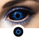 Blue and Black Sclera Contacts Lenses Thanos - Crazy Lenses 1 Year