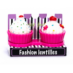pink cupcake case holder lenses