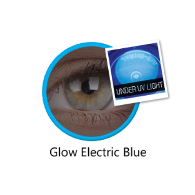 Glow Electric Blue color lenses ColourVue - Crazy Lenses of 1 Year Use
