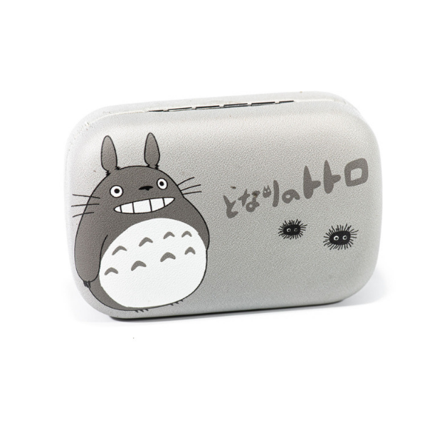 Gray kit contact lenses case holder bear Totoro gray with Black with MONSTERS - 1