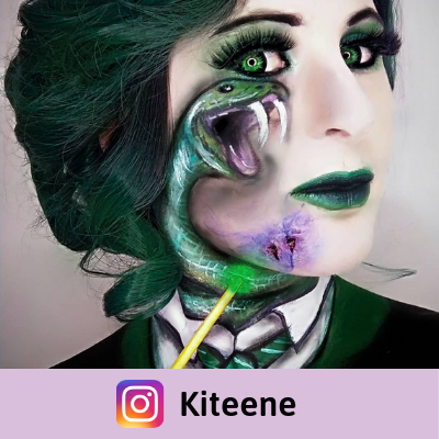 green color lenses makeup slytherin from harry potter