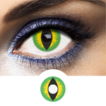 Green Contacts Green Devil - Crazy Lenses of 1 Year Use
