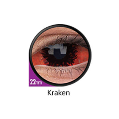 red and black sclera lenses kraken