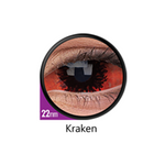 Red and Black Color Lenses Kraken Sclera 22 mm ColourVue - Crazy Lenses 6 months use