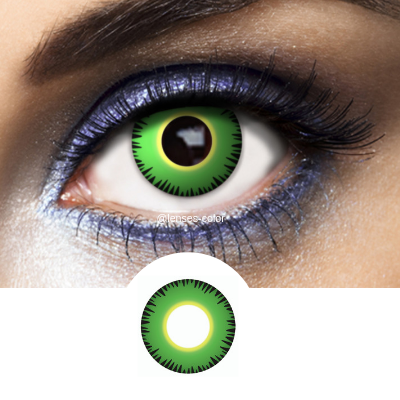 green crazy lenses hulk for cosplay and halloween