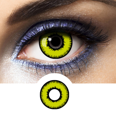 Yellow Contacts Avatar - Crazy Lenses of 1 Year Use