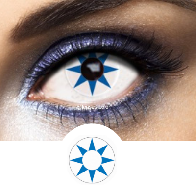Blue Contacts Blue Star - Crazy Lenses of 1 Year Use