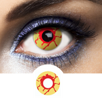 Red and Yellow Contacts Virus - Crazy Lenses of 1 Year Use