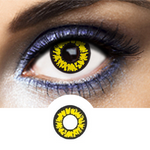 Black and yellow Contacts Black Wolf - Crazy Lenses of 1 Year Use