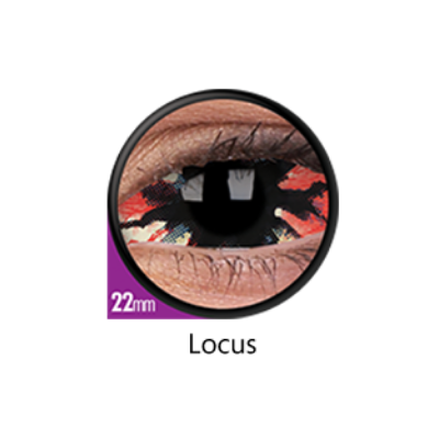 Red and Black Color Lenses Locus Sclera 22 mm ColourVue - Crazy Lenses 6 months use