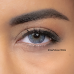 preview of blue color lenses on brown eyes