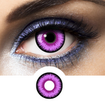 Violet Contacts Lunatic - Crazy Lenses of 1 Year Use