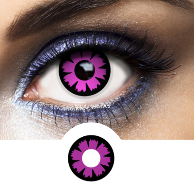 Violet Contacts Cyber - Crazy Lenses of 1 Year Use