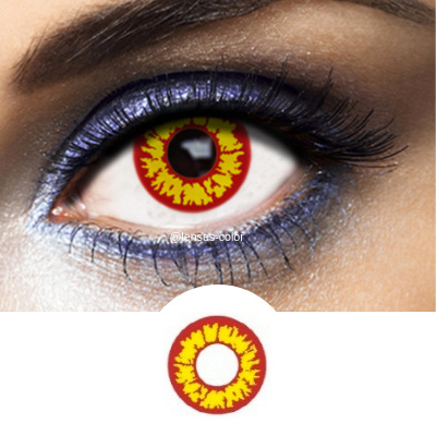 Yellow Contacts Red Wolf - Crazy Lenses of 1 Year Use
