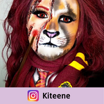 red crazy lenses makeup gryffindor from harry potter