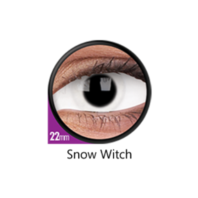 White Color Lenses Snow Witch Sclera 22 mm ColourVue - Crazy Lenses 6 months use
