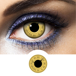 Black and Yellow Contacts Time Keeper - Crazy Lenses of 1 Year Use