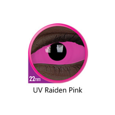 Pink Color Lenses UV Raiden Pink Sclera 22 mm ColourVue - Crazy Lenses 6 months use