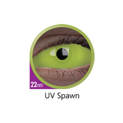 Yellow Color Lenses UV Spawn Sclera 22 mm ColourVue - Crazy Lenses 6 months use