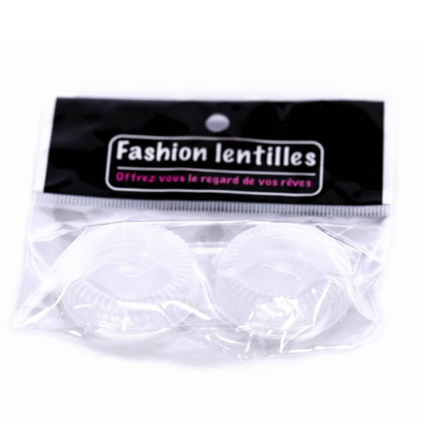 white color lenses case holder