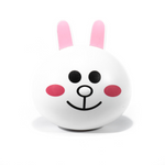 White kit contact lenses case holder RABBIT