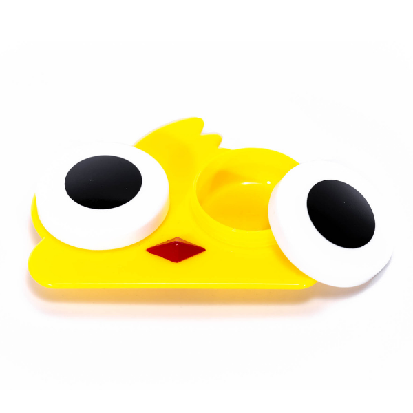 yellow bird case holder for contact lenses
