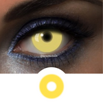 Yellow Contacts UV Glow Yellow - Crazy Lenses of 1 Year Use