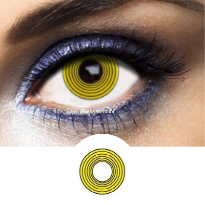 Yellow Contacts Hypnotic - Crazy Lenses of 1 Year Use