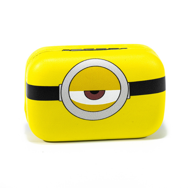 Yellow kit contact lenses case holder The Minions ONE EYE - 4