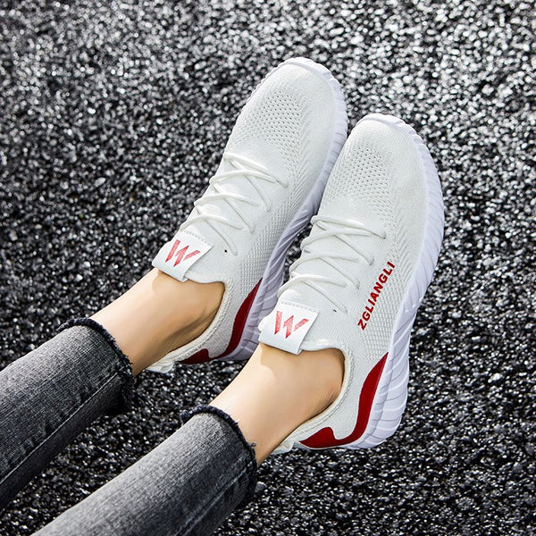 Round Toe Lace-Up Low-Cut Upper Thread Plain Flat With Sneakers