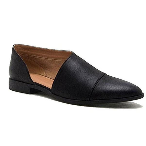 Flat With Pointed Toe Thread Slip-On Western Casual Thin Shoes