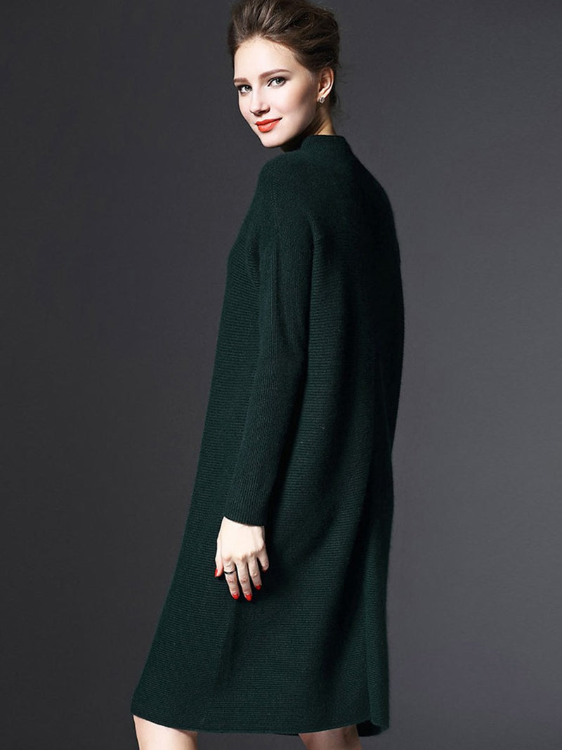 Loose Turtle Neck Women's Sweater Dress