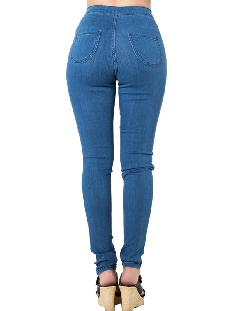 Sporty Patchwork Zipper Side Stripe Women's Jeans